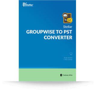 Stellar GroupWise to PST Converter