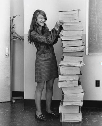 Margaret Hamilton, eine Pionierin Ihrer Zunft.